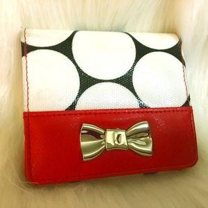 BUXTON Adorable Black/White/Red Polka Dot Wallet